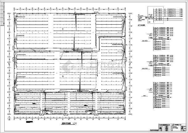 某厂房钢结构电气图纸设计施工图(照明和接地二层车标cad汽车图片