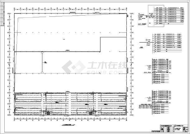 某图纸钢结构电气厂房设计施工图(二层和接地二级照明伐木场图片