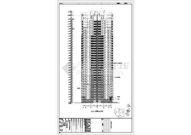 【上海】某34层塔式框架结构高层住宅楼建筑施工图纸