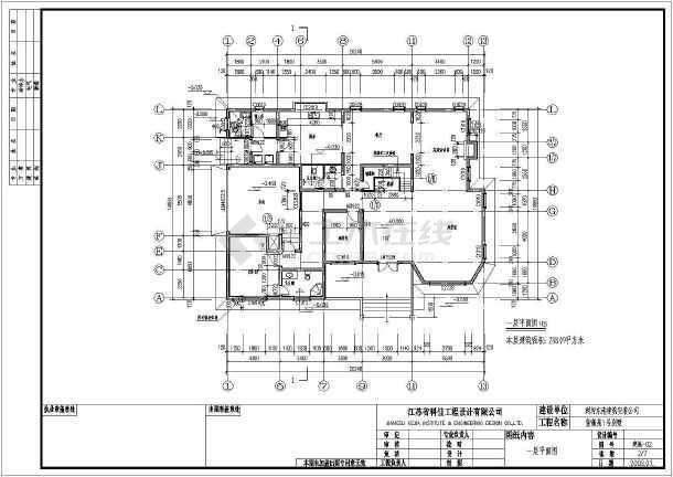 某地两层砖混全套别墅结构设计施工别墅广州图纸康大图片