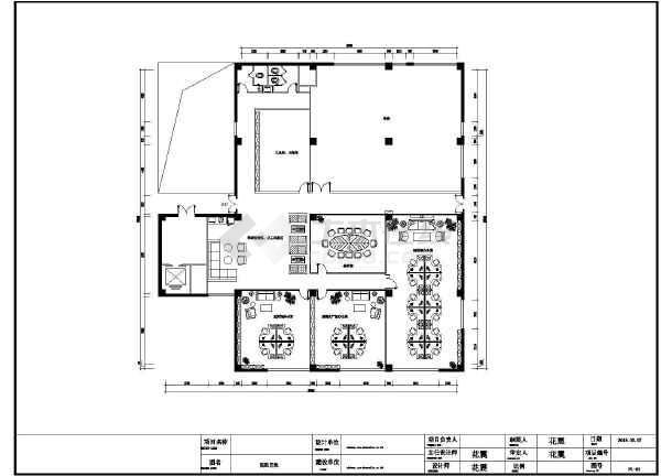 某科技办公室平面设计装修施工图纸