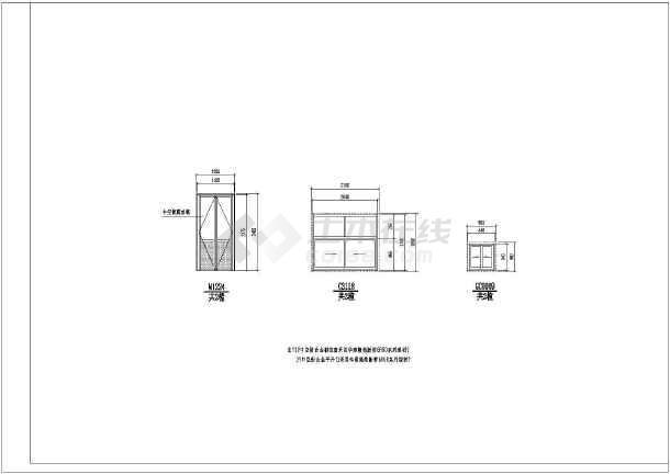 【保定】某新建车管所方案大门幕墙图_cad图cad中如何指北针插入图片