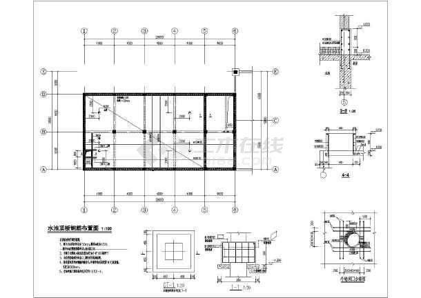 某单层独立配电房及消防水池建筑结构施工图