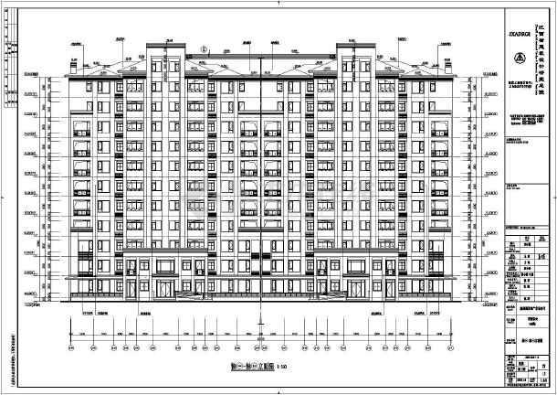 南昌市十一层剪力墙结构住宅楼建筑设计施工图