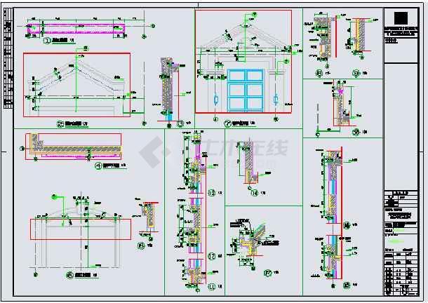 【江苏】三层框架结构新农村独栋别墅建筑设计施工图