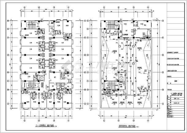 某招待所给排水设计cad施工图纸