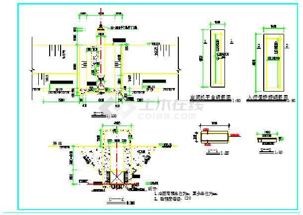 【水闸设计】排水闸设计图纸(闸门设计图纸共7张)_cad
