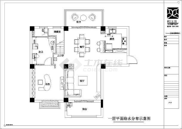 某地180平米复式楼全套设计图纸