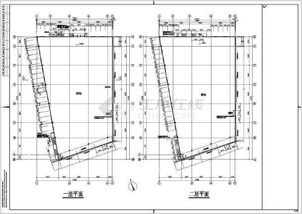 图纸 建筑结构图 框架结构图纸 框架结构商场 某二层钢筋砼框架结构家