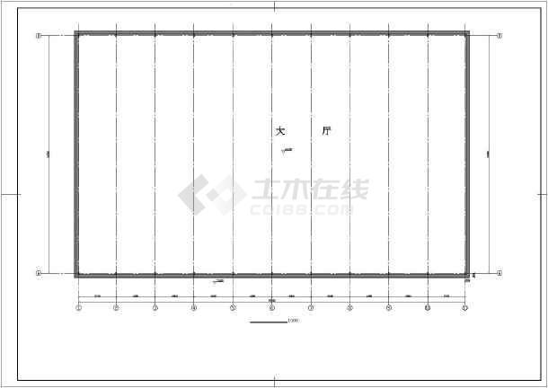 某交易大厅单层拱形屋盖钢结构设计施工图