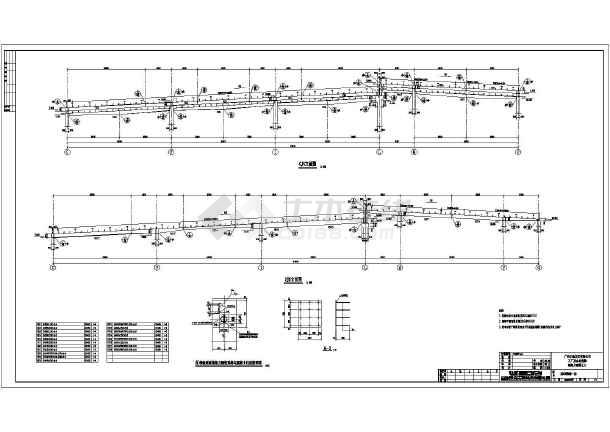 广州某单位排架结构屋面工业厂房结构施工图