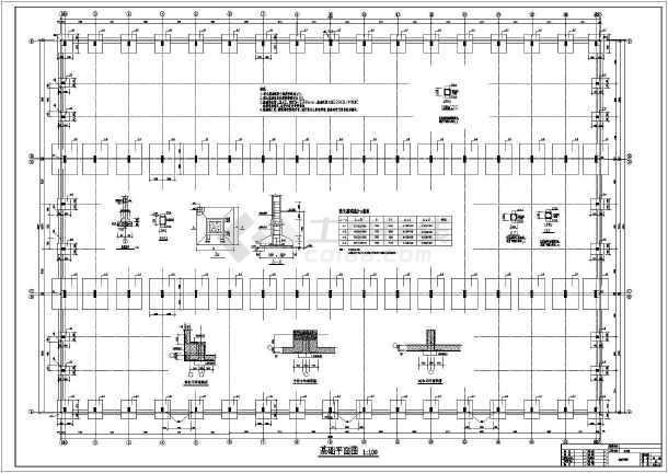 轻钢结构厂房  某地区混凝土柱预制混凝土屋架厂房结构施工图