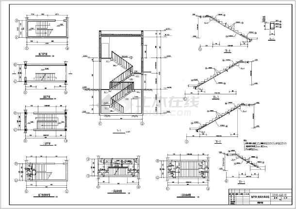 某地全套锅炉房结构设计施工图(含建筑设计)家具设计师联系方式图片