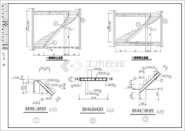 某3层框架结构别墅建筑设计施工图