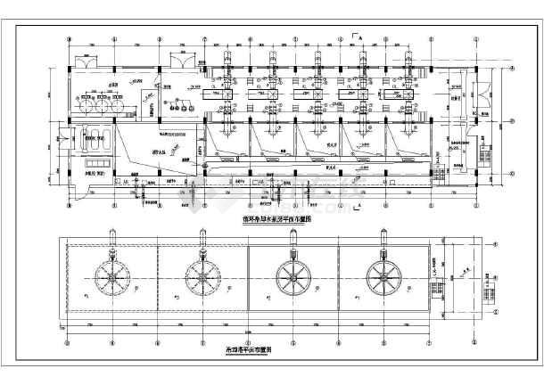 某方案循环水电厂给排水平面设计图纸图_cad鲜花拼豆泵房图片