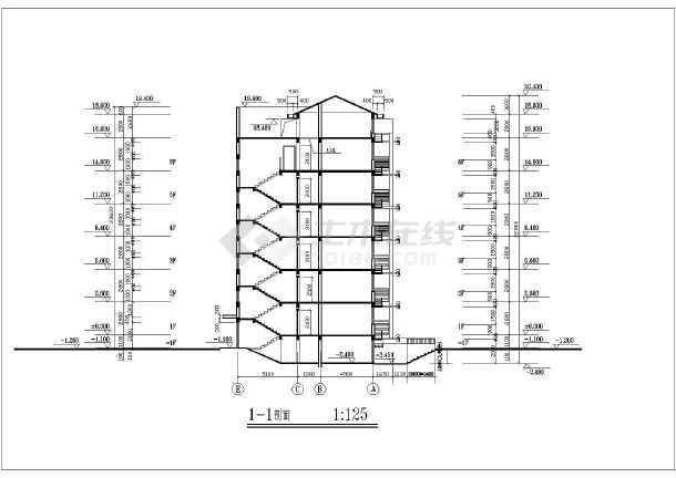 某地6层混凝土框架结构住宅楼建筑施工图