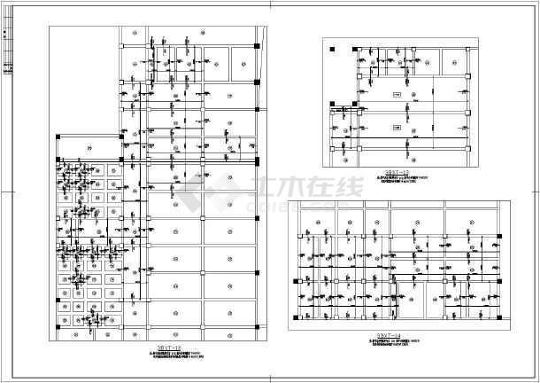 都江堰五层框架结构厂房车间结构施工图_cad图纸下载