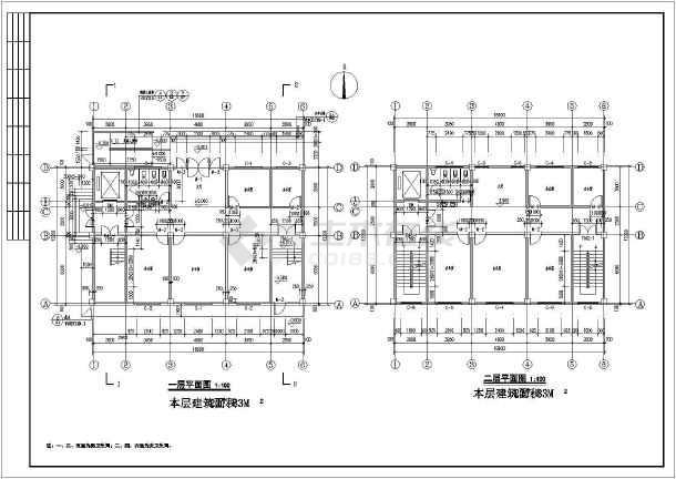 郑州6层混凝土框架结构社区办公楼建筑施工图