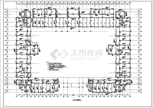 山东某地小学教学楼框架结构施工图纸