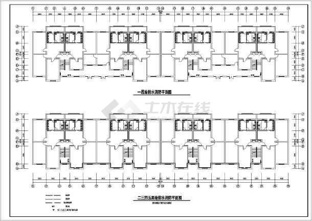 某中学公寓供暖给排水消防设计施工图-图2