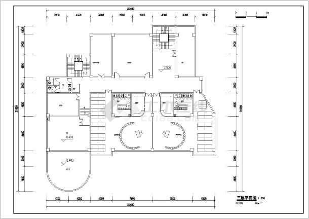 某地区6班三层幼儿园建筑设计平面方案图片