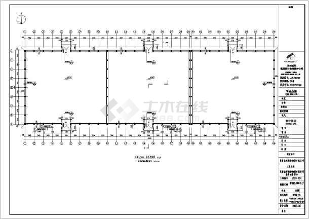 24米双t板粮仓建筑,结构施工图