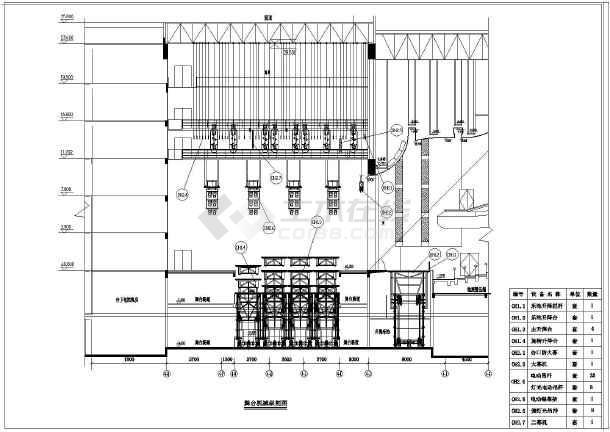某剧场舞台机械设备建筑施工设计图纸