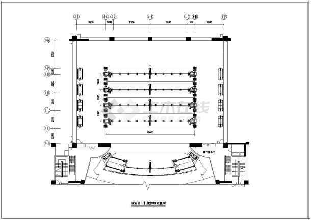 某剧场舞台机械设备建筑施工设计图纸图片