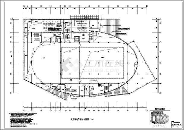 【温州】丙级游泳馆强电消电cad施工图