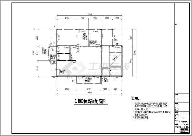 某六度区三层砖混农村自建房结构施工图