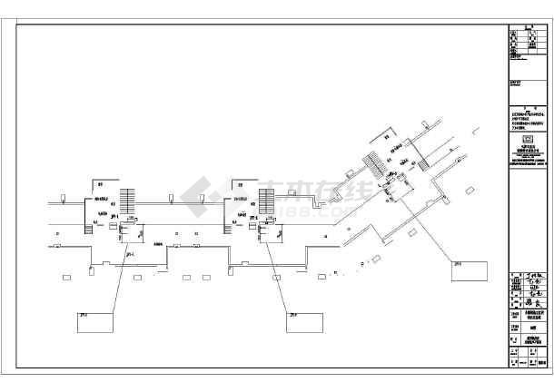 螺丝住宅小区采暖通风防排烟设计_cad标准下图纸的高层图纸图片