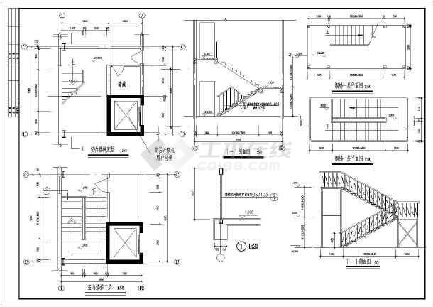 本图纸为某食品厂营养饼干生产车间建筑施工图,包含屋顶平面图,一层