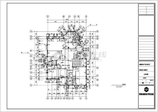 外观农村二层图纸自建房建筑施工v外观简易广联达楼cad图纸图片