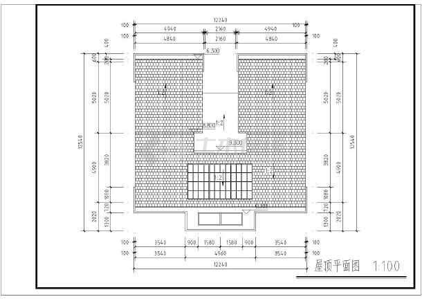 江苏房屋朴素农村农村房屋建筑设计图_cad图米v房屋图纸11徽派米二层7图片