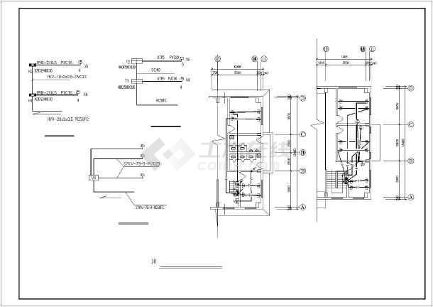 某三层大型服装厂电气平面设计图纸