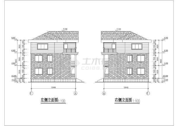 双拼长18.24米 宽10.68米农村自建房建筑设计图