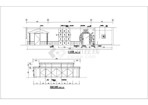 某地高级会所茶吧装修设计施工图纸-图1