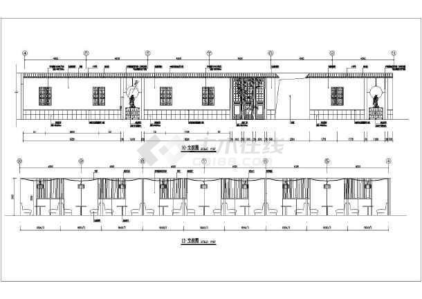 某地高级会所茶吧装修设计施工图纸-图2