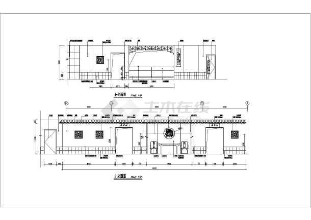 某地高级会所茶吧装修设计施工图纸-图3