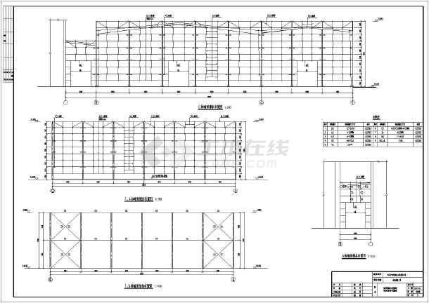 某钢结构厂房结构施工图(包含建筑设计)