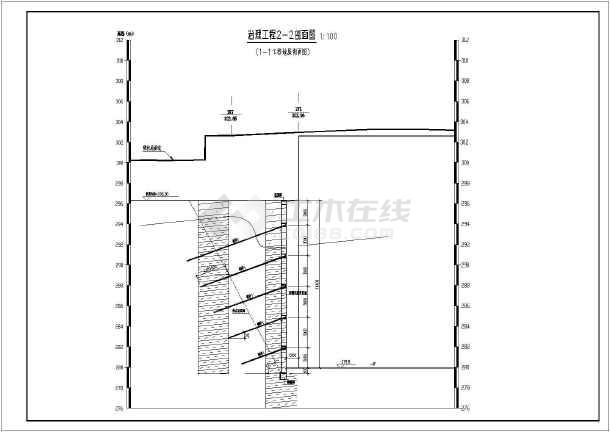 挡墙开挖支护设计,图纸内容包含结构设计说明