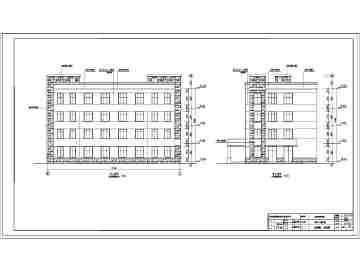 安徽四层框架结构政府办公楼建筑设计施工图