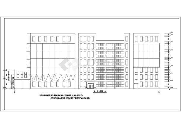 威海市6层混凝土框架结构面粉厂厂房建筑施工图