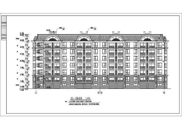 地多栋六层砖混结构单元式住宅建筑方案图纸