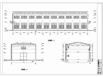 单层砼排架结构工业厂房课程设计图纸