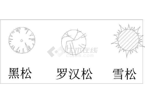 v植物植物表、指北针、比例尺(主要是植物的示桥梁设计简图图纸图片
