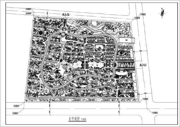 专题首页  西安景观园林  【西安】某小区景观工程总体规划设计平面图