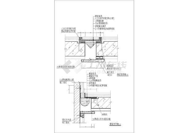 各类手绘缝图纸做法图纸建筑施工节点_cad图变形大样牡丹花图片