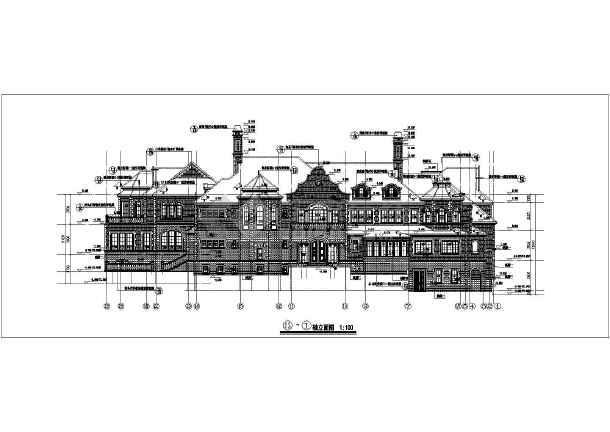 某小区二层欧式别墅办公楼建筑设计方案