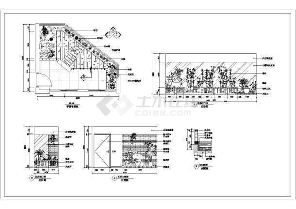 某图纸全套装饰设计别墅施工图(平立剖)_cad图cad翻译v图纸阳台如何图片